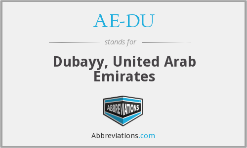 What does AE-DU stand for?