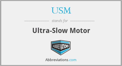 USM - Ultra-Slow Motor