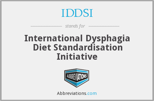 What does IDDSI stand for?