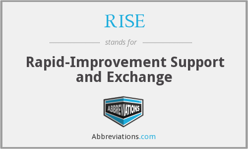 RISE - Rapid-Improvement Support and Exchange