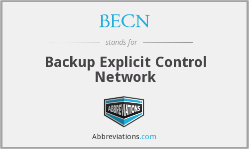 BECN - Backup Explicit Control Network