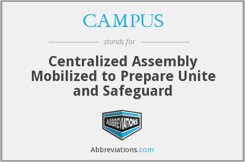 CAMPUS - Centralized Assembly Mobilized to Prepare Unite and Safeguard