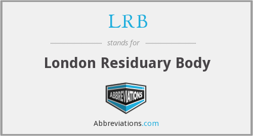 LRB - London Residuary Body