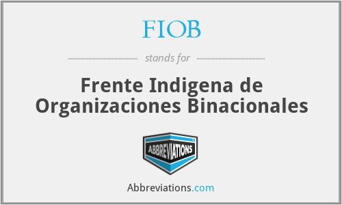 FIOB - Frente Indigena de Organizaciones Binacionales