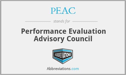 PEAC - Performance Evaluation Advisory Council
