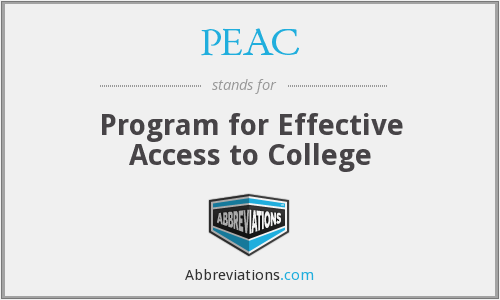 PEAC - Program for Effective Access to College