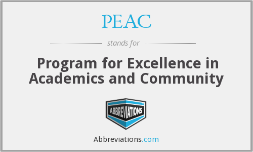 PEAC - Program for Excellence in Academics and Community