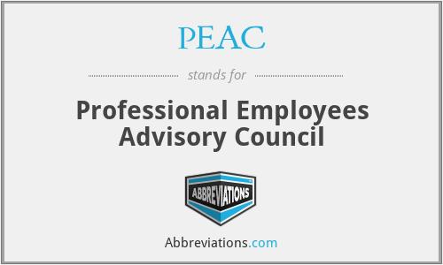 PEAC - Professional Employees Advisory Council