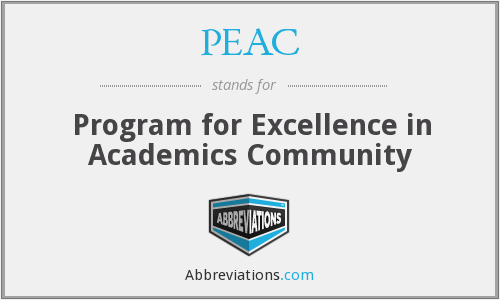 PEAC - Program for Excellence in Academics Community