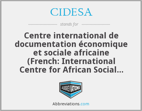 What does CIDESA stand for?