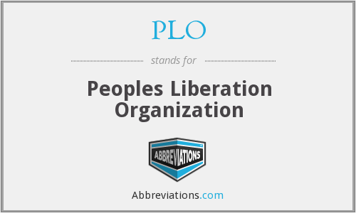 PLO - Peoples Liberation Organization