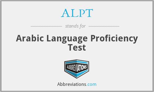 ALPT - Arabic Language Proficiency Test
