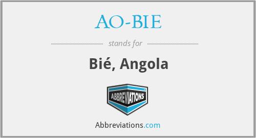 AO-BIE - Bié, Angola