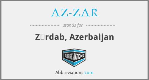 AZ-ZAR - Zərdab, Azerbaijan