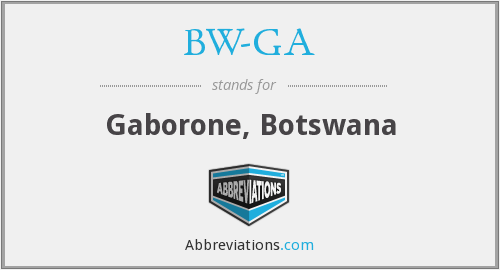 What does BW-GA stand for?