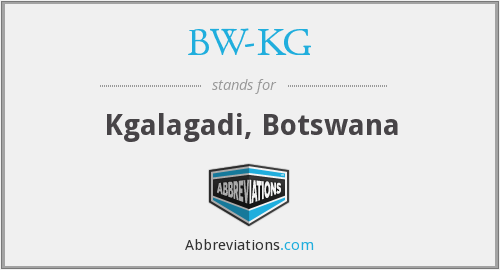 What does BW-KG stand for?
