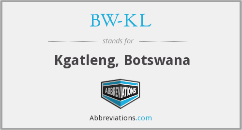 What does BW-KL stand for?