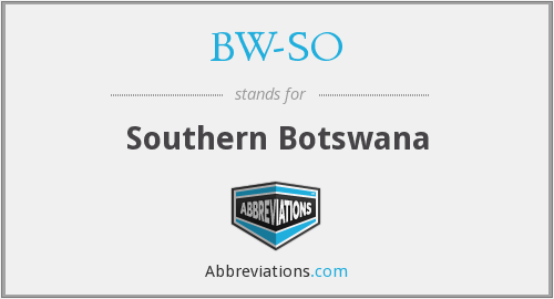 What does BW-SO stand for?