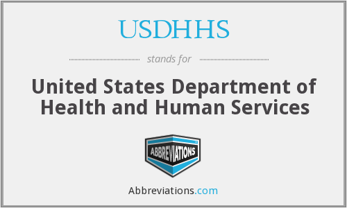 What does USDHHS stand for?