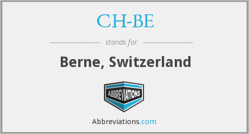 What does CH-BE stand for?