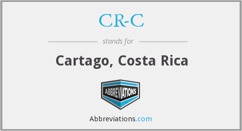 What does CR-C stand for?