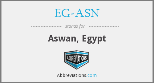 What does EG-ASN stand for?