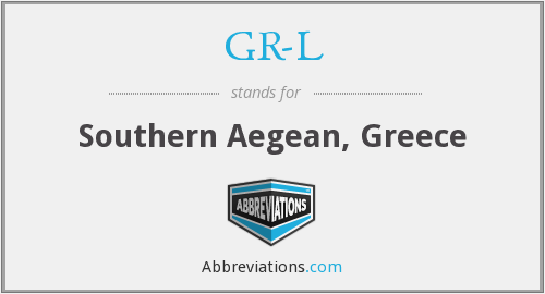 GR-L - Southern Aegean, Greece