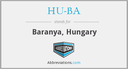 What does HU-BA stand for?