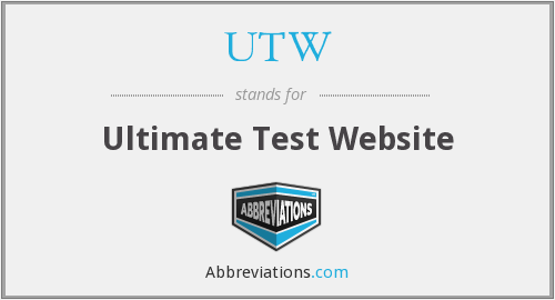 UTW - Ultimate Test Website