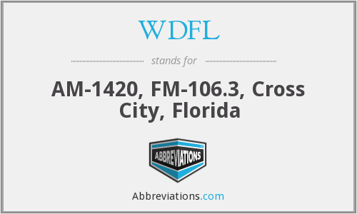 WDFL - AM-1420, FM-106.3, Cross City, Florida