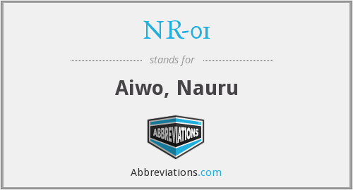 What does NR-01 stand for?