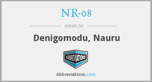 What does NR-08 stand for?