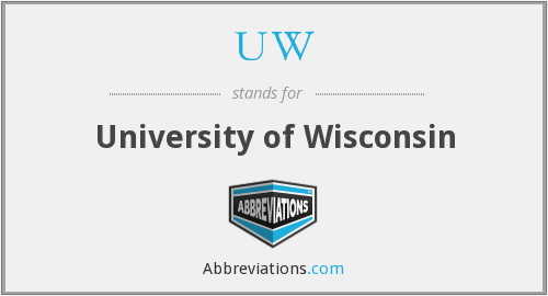 What does UW stand for?