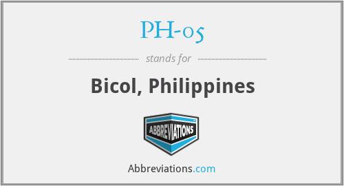PH-05 - Bicol, Philippines