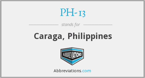 What does PH-13 stand for?