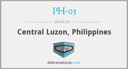 What does PH-03 stand for?
