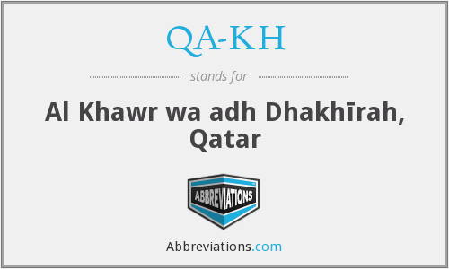 What does QA-KH stand for?