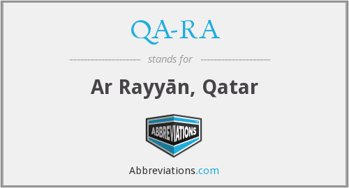 What does QA-RA stand for?