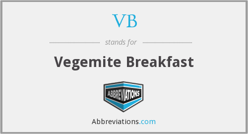 VB - Vegemite Breakfast