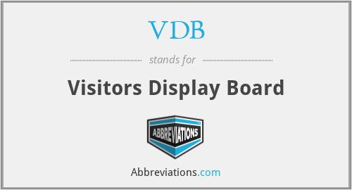 VDB - Visitors Display Board