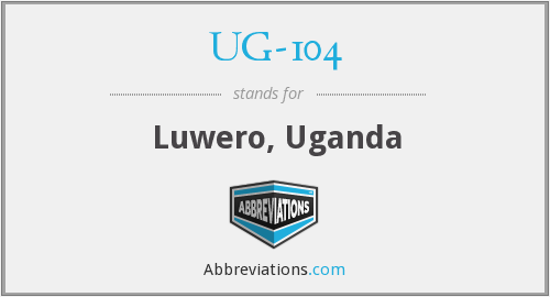 What does UG-104 stand for?