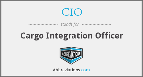 CIO - Cargo Integration Officer