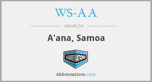What does WS-AA stand for?