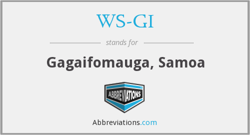 What does WS-GI stand for?