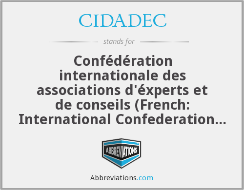 What does CIDADEC stand for?