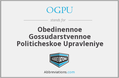 What does OGPU stand for?