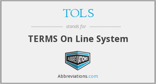 TOLS - TERMS On Line System
