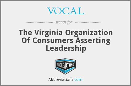 VOCAL - The Virginia Organization Of Consumers Asserting Leadership