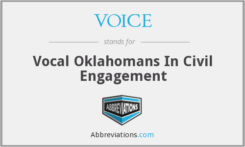 VOICE - Vocal Oklahomans In Civil Engagement
