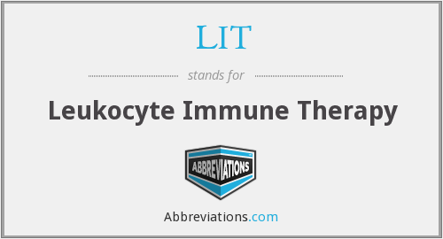LIT - Leukocyte Immune Therapy